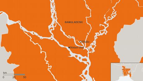 Karte Bangladesch Moinot Ghat Englisch