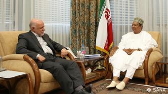 Iran Treffen Bijan Namdar Zangeneh und Mohammd Barkindo (SANA)