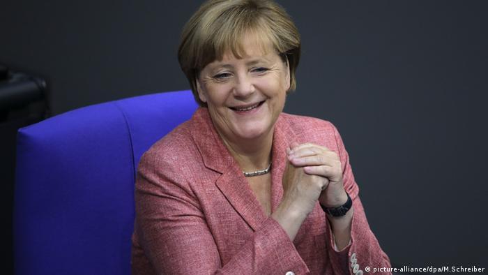 Angela Merkel im Bundestag Berlin