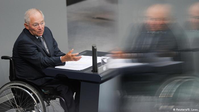 Deutschland Bundestag Bundesfinanzminister Wolfgang Schäuble