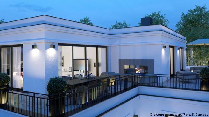 Deutschland München Pläne für Luxuswohnungen - Grundstück ehemalige Flick-Villa (picture-alliance/dpa/Foto: M-Concept)