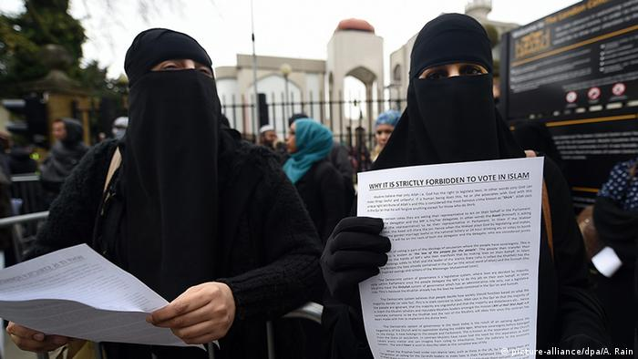 Muslimische Frauen in London (picture-alliance/dpa/A. Rain)