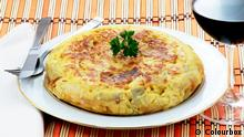 Spanische Tortilla mit Ei und Kartoffeln