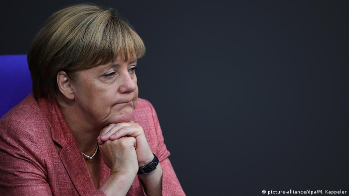 Deutschland Bundestag in Berlin - Bundeskanzlerin Angela Merkel