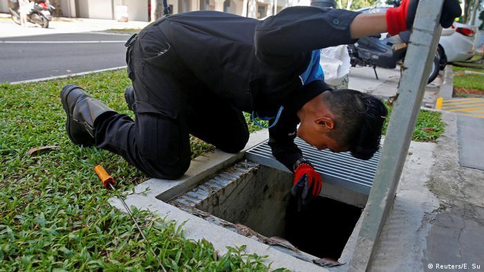 Singapur Bekämpfung von Stechmücken und Zika Virus
