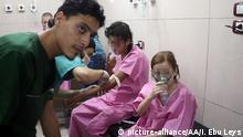 Syrien Aleppo Opfer von Chlorgas Angriff