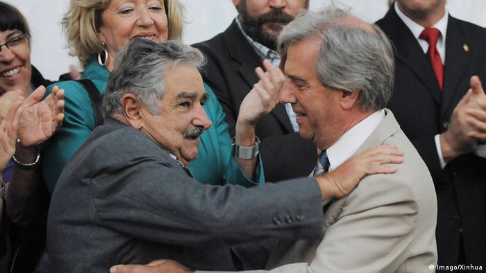 Uruguay Montevideo Amtsübergabe Präsident Tabare Vazquez (R) und Jose Mujica (Imago/Xinhua)