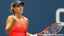 06.09.2016 *** NEW YORK, NY - SEPTEMBER 06: Angelique Kerber of Germany reacts against Roberta Vinci of Italy during their Women's Singles Quarterfinal Match on Day Nine of the 2016 US Open at the USTA Billie Jean King National Tennis Center on September 6, 2016 in the Flushing neighborhood of the Queens borough of New York City. (Photo by Elsa/Getty Images) © Getty Images/Elsa