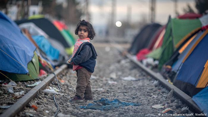 Griechenland Flüchtlingskind