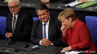 Angela Merkel, Frank-Walter Steinmeier and Sigmar Gabriel