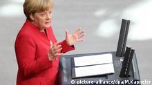 Bundeskanzlerin Angela Merkel Bundestag Rede