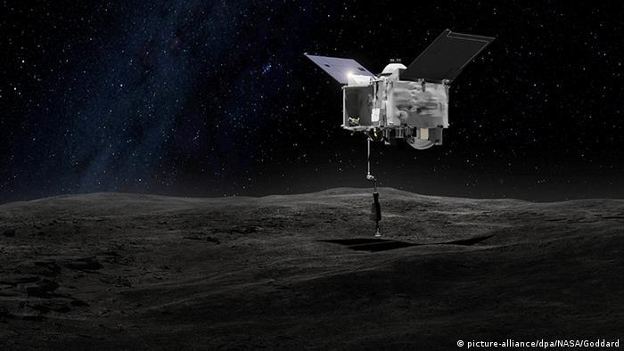 OSIRIS-REx Sonde landet auf dem Asteroiden Bennu.