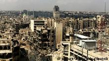 Im September aufgenommenes Bild des zerstörten Aleppo