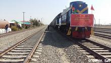 Afghanistan Hairatan Ankunft Cargo Zug aus China