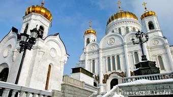 Russland Die Christi Erlöser Kathedrale in Moskau Foto: dpa - Report+++ | Verwendung weltweit picture-alliance/ZB/A. Lander