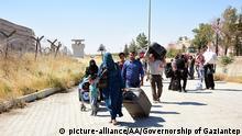 Türkei Gaziantep Grenze Syrien Syrische Flüchtlinge Rückkehr