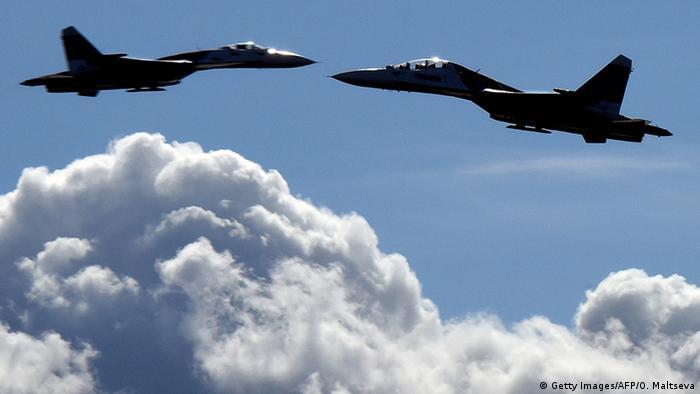 Два истребителя Су-27 (фото из архива)