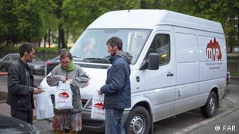 Russland - NGO-Straßensozialarbeiter in Moskau