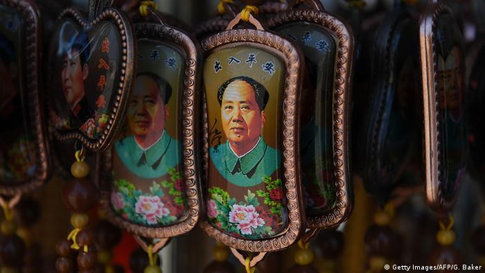 China Anhänger mit Bild von Mao Zedong - 40. Todestag