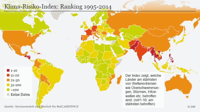 Infografik Klima-Risiko-Index: Ranking 1995-2014 DEU