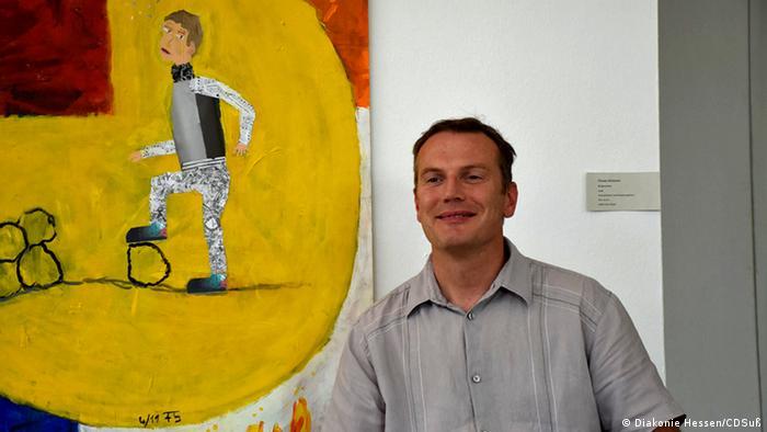 Kassel Kunst trotz(t) Handicap Vernissage Florian Schmerer  Copyright: Diakonie in Deutschland, Diakonie in Hessen