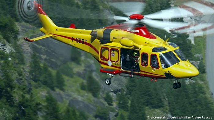 Frankreich Seilbahngondel-Panne am Montblanc: Rettungsaktion mit Hubschrauber