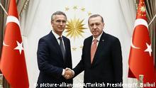 Türkei Ankara - Recep Tayyip Erdogan und Generalsekretär Jens Stoltenberg