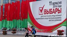 September 2016 Wahl in Weißrussland Parlamentswahlen in Weißrussland Copyright: DW/E. Daneyko +++ Für russische Redaktion +++