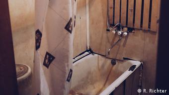 The bathroom: cheap and shabby: