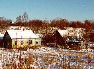 Casas abandonadas nas proximidades de Tchernobil