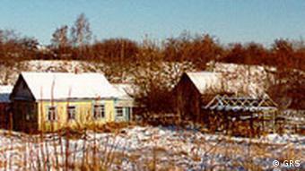 Покинутая деревня в зоне Чернобыля
