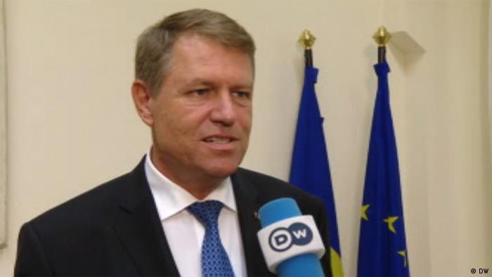 Berlin Klaus Johannis, Präsident Rumänien im DW TV Interview