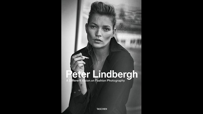 Kate Moss on the book cover of Peter Lindbergh: A Different Vision on Fashion Photography (c) Taschen Verlag