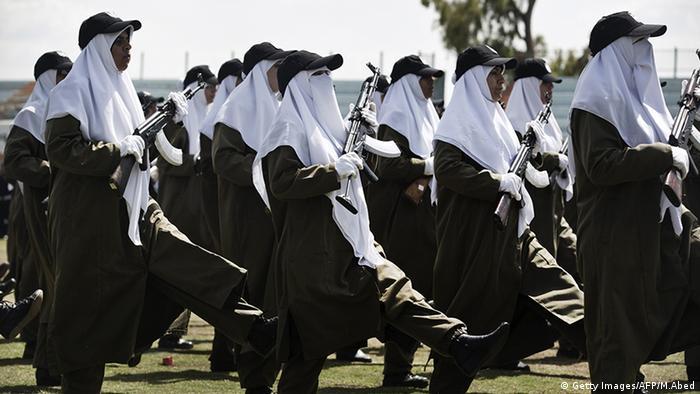 Frauen Gesichtsschleier Verschleierung Palästina Sicherheitsarmee (Getty Images/AFP/M.Abed)