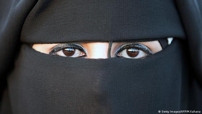 Frauen Gesichtsschleier Verschleierung Palästina Braut (Getty Images/AFP/M.Kahana)