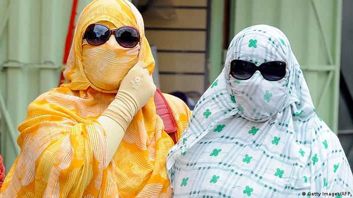 Frauen Gesichtsschleier Verschleierung Marokko (Getty Images/AFP)