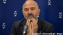 Slowakei Bratislava -Pierre Moscovici beim Informellen Treffen der EU Finanzminister