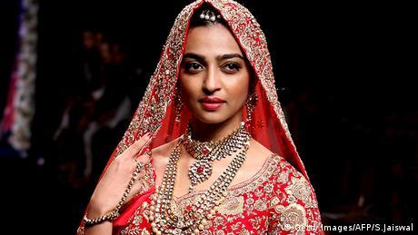 Frauen Gesichtsschleier Verschleierung Indien Dupatta