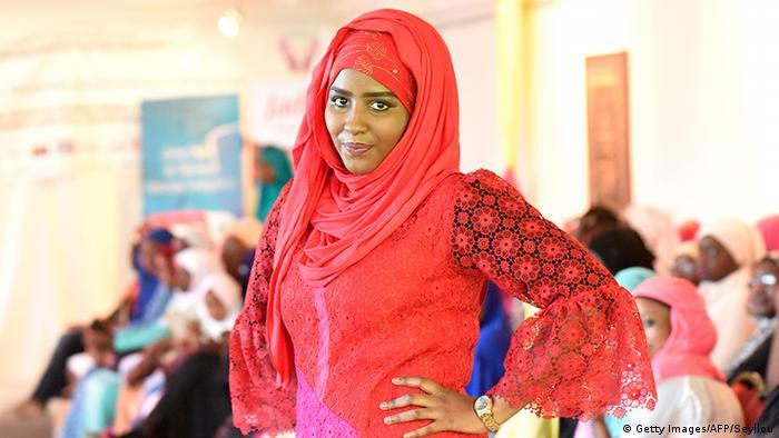 Frauen Gesichtsschleier Verschleierung Dakar Hijab