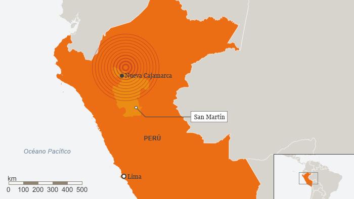 Karte Peru Nueva Cajamarca Spanisch
