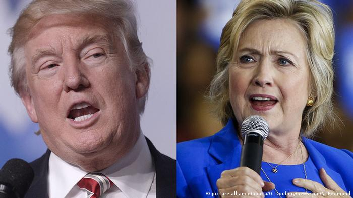 Kombibild Trump Clinton (picture alliance/abaca/O. Douliery/newscom/N. Redmond)