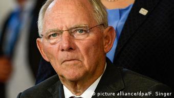 Wolfgang Schäuble, heutiger Bundesfinanzminister (picture alliance/dpa/F. Singer)