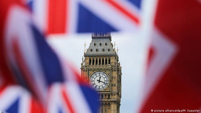 Brexit Symbolbild Big Ben Unionjack (picture alliance/dpa/M. Kappeler)