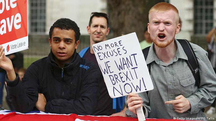 Brexit Symbolbild Beführworter