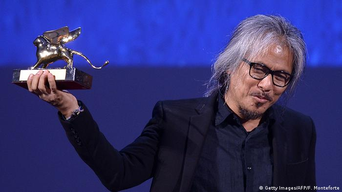 Lav Diaz winner of Golden Lion, Copyright: Getty images /AFP/F. Montefiore
