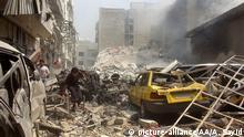 Syrien Idlib Luftangriff Syrische Armee