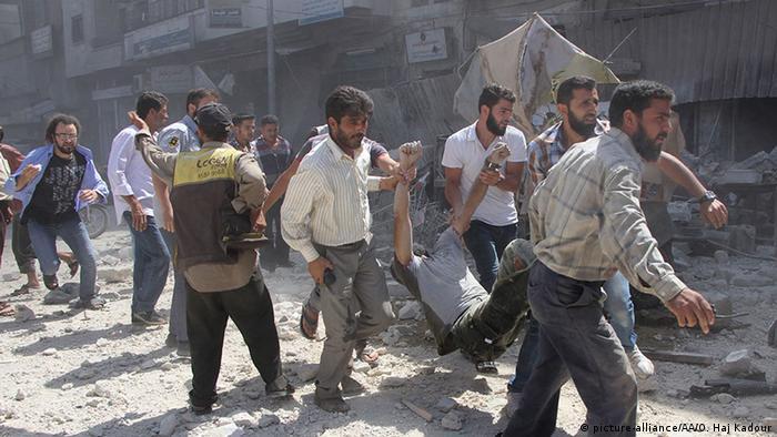 Syrien Idlib Luftangriff Syrische Armee Verletzte