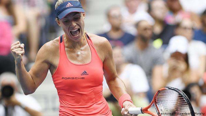 Angelique Kerber after winning the US Open