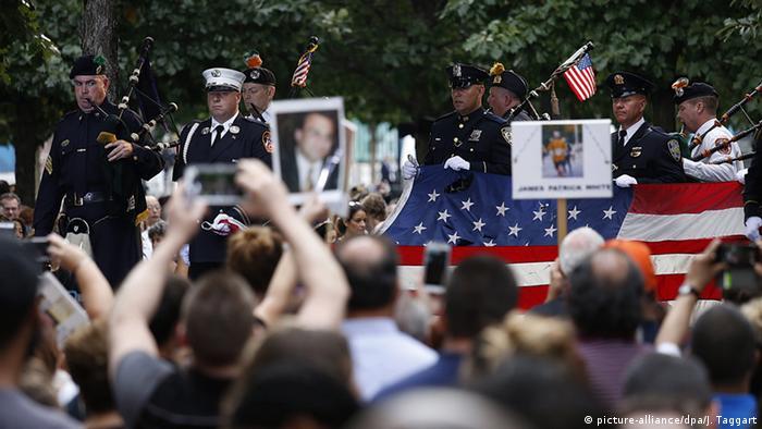Homenagem em Nova York por ocasião dos 15 anos dos atentados do 11 de Setembro