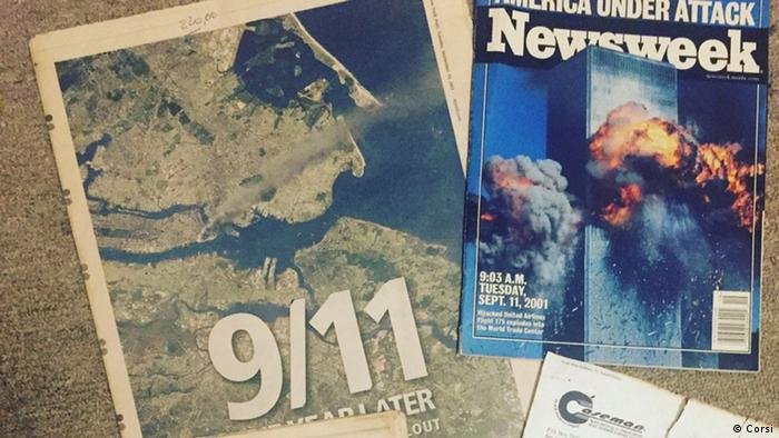 Cíntia Corsi ainda guarda jornais e papéis perdidos da época do atentado
